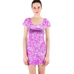 Officially Sexy Pink & White Short Sleeve Bodycon Dress