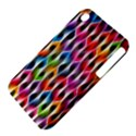 Rainbow Psychedelic Waves Apple iPhone 3G/3GS Hardshell Case (PC+Silicone) View4