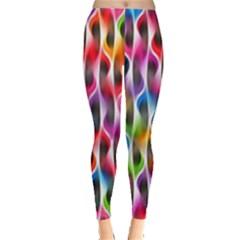 Rainbow Psychedelic Waves Leggings