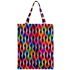 Rainbow Psychedelic Waves Classic Tote Bag