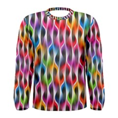 Rainbow Psychedelic Waves Men s Long Sleeve T-shirt