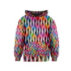 Rainbow Psychedelic Waves Kids Zipper Hoodie
