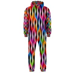 Rainbow Psychedelic Waves Hooded Jumpsuit (Men)