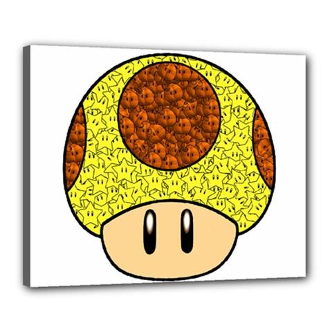 Really Mega Mushroom Canvas 20  X 16  (framed)