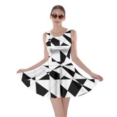 Shattered Life In Black & White Skater Dress