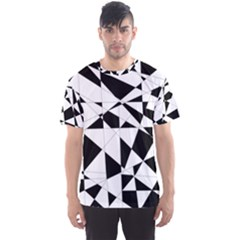 Shattered Life In Black & White Men s Sport Mesh Tee