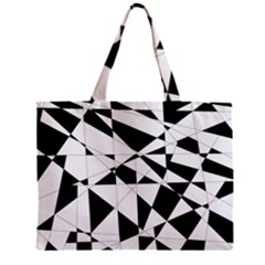 Shattered Life In Black & White Tiny Tote Bag