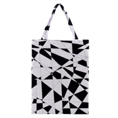 Shattered Life In Black & White Classic Tote Bag