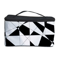 Shattered Life In Black & White Cosmetic Storage Case