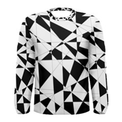 Shattered Life In Black & White Men s Long Sleeve T Shirt