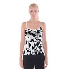 Shattered Life In Black & White Spaghetti Strap Top
