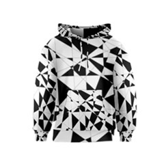 Shattered Life In Black & White Kid s Pullover Hoodie