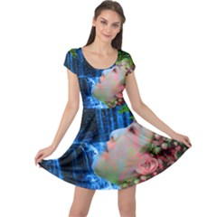 Fountain Of Youth Cap Sleeve Dress