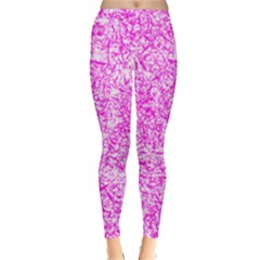 Officially Sexy Pink & White Winter Leggings