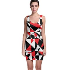 Shattered Life Tricolor Bodycon Dress