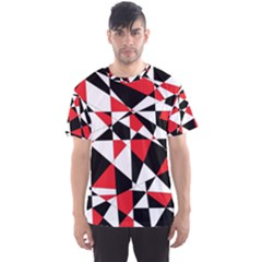 Shattered Life Tricolor Men s Sport Mesh Tee