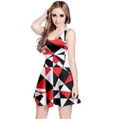 Shattered Life Tricolor Reversible Sleeveless Dress