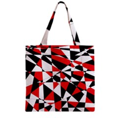 Shattered Life Tricolor Grocery Tote Bag