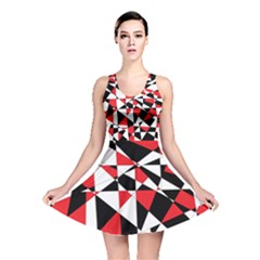 Shattered Life Tricolor Reversible Skater Dress