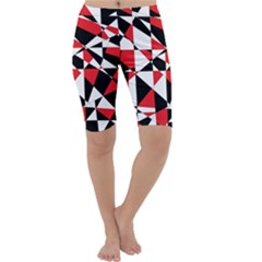 Shattered Life Tricolor Cropped Leggings