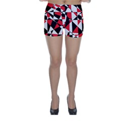 Shattered Life Tricolor Skinny Shorts