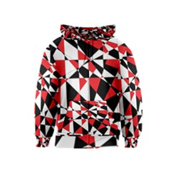 Shattered Life Tricolor Kids Zipper Hoodie