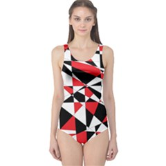 Shattered Life Tricolor One Piece Swimsuit