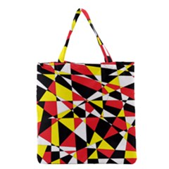 Shattered Life With Rays Of Hope Grocery Tote Bag