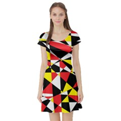 Shattered Life With Rays Of Hope Short Sleeve Skater Dress