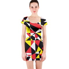 Shattered Life With Rays Of Hope Short Sleeve Bodycon Dress
