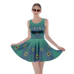 Peacock Emerald Skater Dress