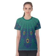 Peacock Emerald Women s Cotton Tee