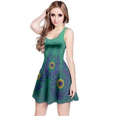 Peacock Emerald Reversible Sleeveless Dress