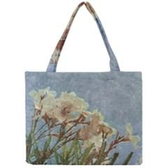 Floral Grunge Vintage Photo Tiny Tote Bag