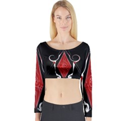 D1b Long Sleeve Crop Top (tight Fit)