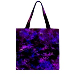 Purple Skulls Goth Storm Grocery Tote Bag