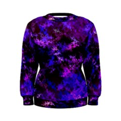 Purple Skulls Goth Storm Women s Sweatshirt