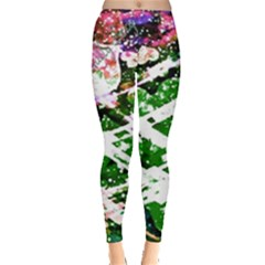 Officially Sexy Green Floating Hearts Collection Leggings