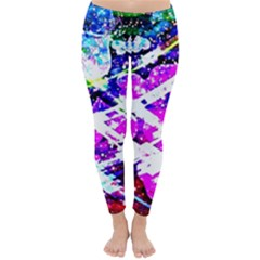 Officially Sexy Pink Floating Hearts Collection Winter Leggings