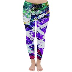 Officially Sexy Purple Floating Hearts Collection Winter Leggings