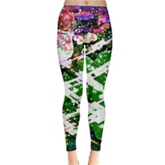 Officially Sexy Green Floating Hearts Collection Winter Leggings