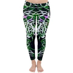 Officially Sexy Green Panther Collection Winter Leggings