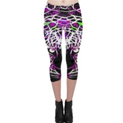 Officially Sexy Panther Collection Purple Capri Leggings