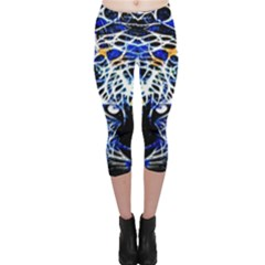 Officially Sexy Blue Panther Collection Capri Leggings