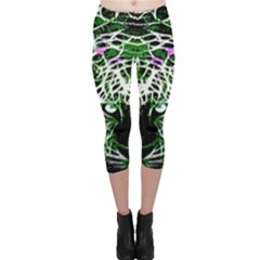 Officially Sexy Green Panther Collection Capri Leggings
