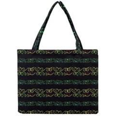 Modern Lace Stripe Pattern Tiny Tote Bag