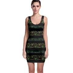 Modern Lace Stripe Pattern Bodycon Dress