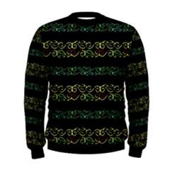 Modern Lace Stripe Pattern Men s Sweatshirt