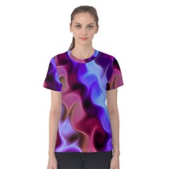 Rippling Satin Women s Cotton Tee