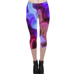 Rippling Satin Capri Leggings